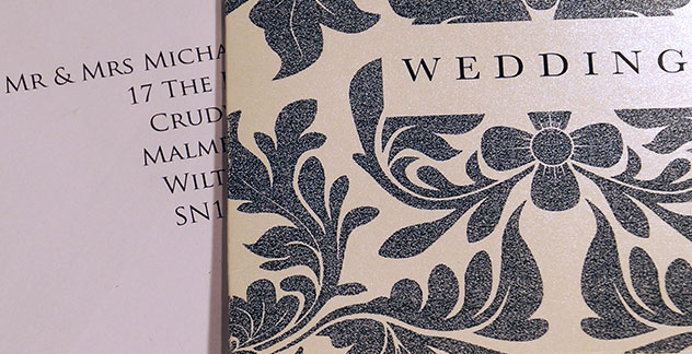Letterpress printing wedding stationery